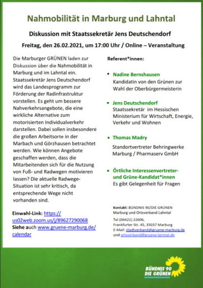 Nahmobilität in Marburg und Lahntal